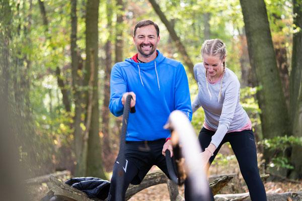 """Outdoor Gym Lifestyle Sportshooting im Taunus für """"Nina macht dich Fit"""""""