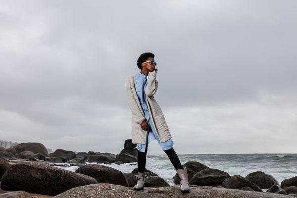Ethical Fashion from Antonio Verde Sunglasses, Raffauf, Royal Blush - Model: Erika (DXL Models) - Photoproduction by Melina Johannsen and Boris Bärmichl
