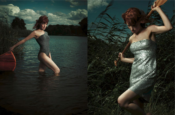 """Svea on the lake"" Photo: Dennis Reher / H&M: Melina Johannsen"