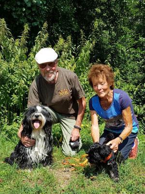 08.08. Karin und Gerhard mit Jinpa