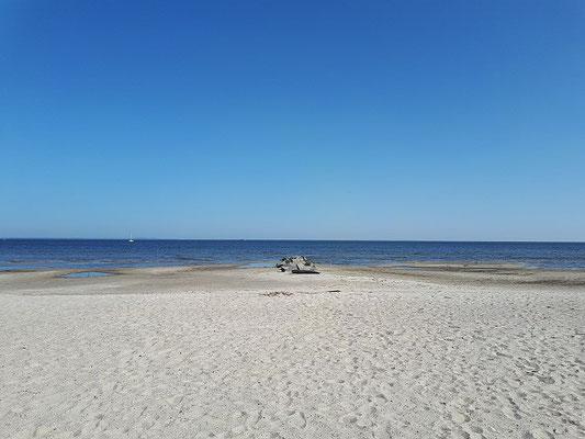 Am Strand von Ueckermünde