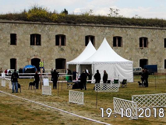 Ausstellungsgelände vor historischer Kullisse