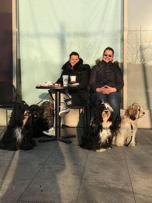 Tag 1: Belohnungskaffee an der Donaupromenade