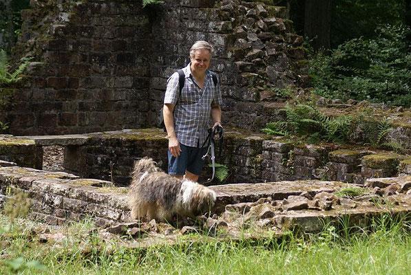 19.7.15 - Wanderung zur Villa Rustica - Herrchen im Glück