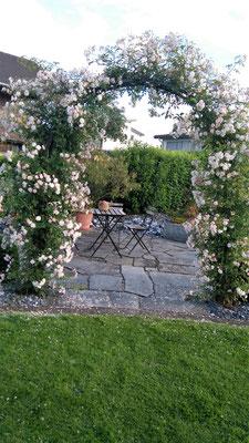 Blumenbogen aus Stahl oder Chromstahl
