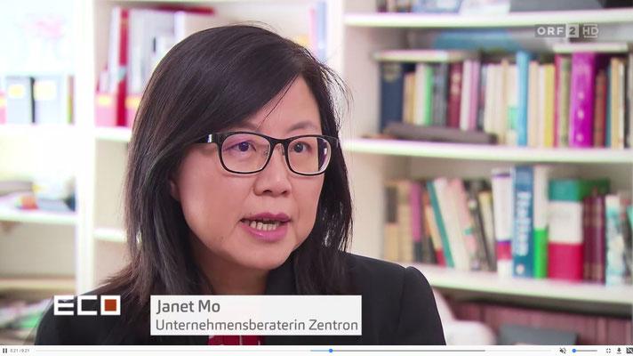 毛巧玲接受奥地利国家电视台访问