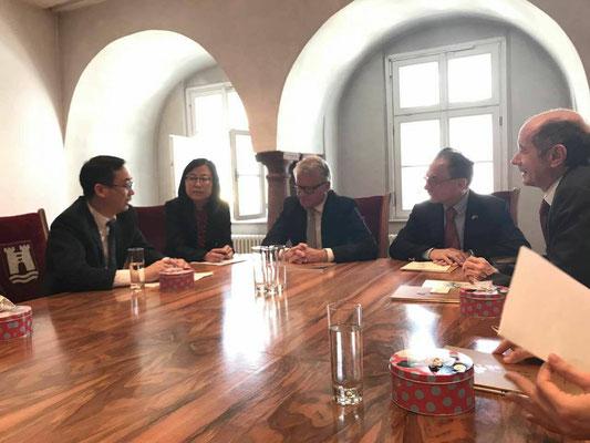 与四川德阳代表团拜访林茨市长
