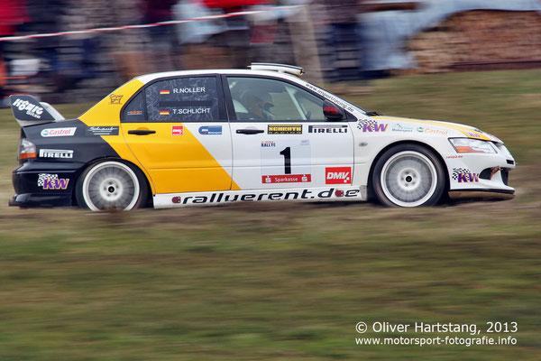 # 1 - H16 - Rainer Noller (Abstatt) & Tanja Schlicht (Öhringen) / Mitsubishi Lancer EVO 8 vom HMC Öhringen
