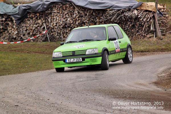 # 217 - Horst Baumann (Hangen-Weisheim) & Andreas Steuerwald (Orbis) / Peugot 205 GTI