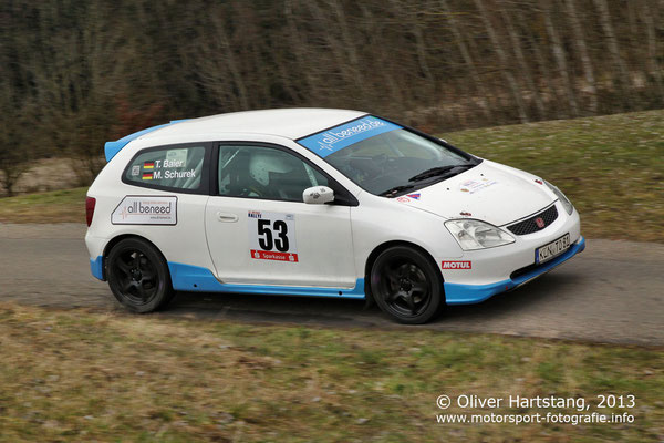 # 53 - 8 - Tobias Baier (Öhringen) & Martina Schurek (Pfedelbach) / Honda Civic Type R vom HMC Öhringen im ADAC