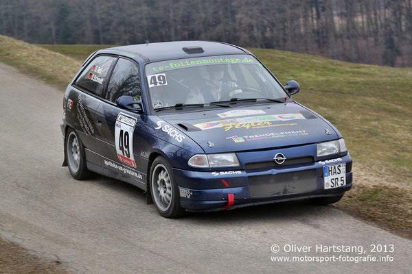 # 49 - 8 - Sascha Reif (Ebern) & Sonja Schmitt (Ebern) / Opel Astra GSI