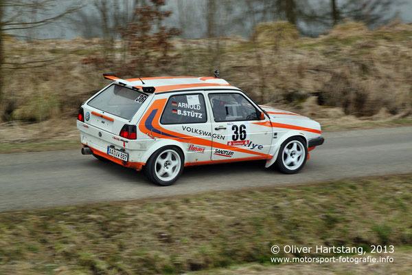 # 36 - H14 - Bernd Stütz (Mögglingen) & Steffen Arnold (Waldstetten) / Volkswagen Golf II 16V vom AMC GD / MSC Frickenhofer Höhe