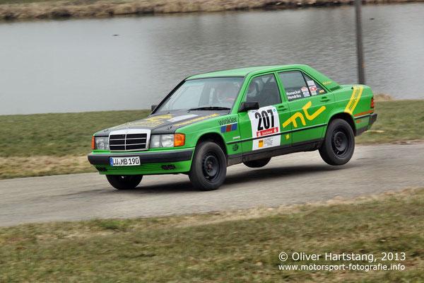 # 207 - Kurt Honacker (Ludwigshafen) & Peter Hendriks (Ludwigshafen) /  Mercedes-Benz 190E