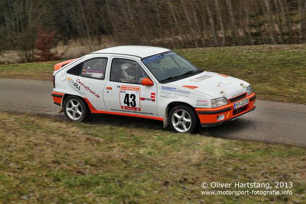 # 43 - H14 - Gerrit Schmitt (Marktheidenfeld) & Nadja Hartung (Fulda) / Opel Kadett E GSI 16V vom MSC Wächtersbach im DMV