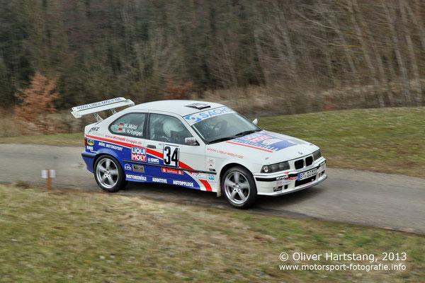 # 34 - 3B - Werner Mühl (Gefrees) & Sebastian Kröniger (Bayreuth) / BMW E 36 Compact vom MSC Bayreuth
