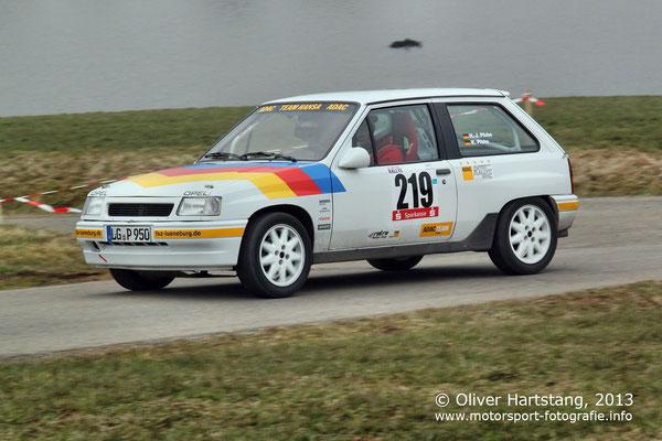 # 219 - Hans-Jürgen Pfohe (Lüneburg) & Karin Pfohe (Lüneburg) / Opel Corsa vom ADAC Team Hansa