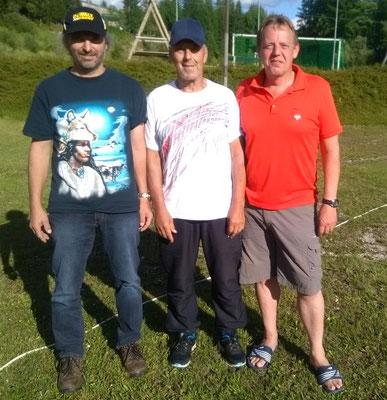 2. Hubert Moser, Sieger Peter Gassenbauer, 3. Reinhold Leitner