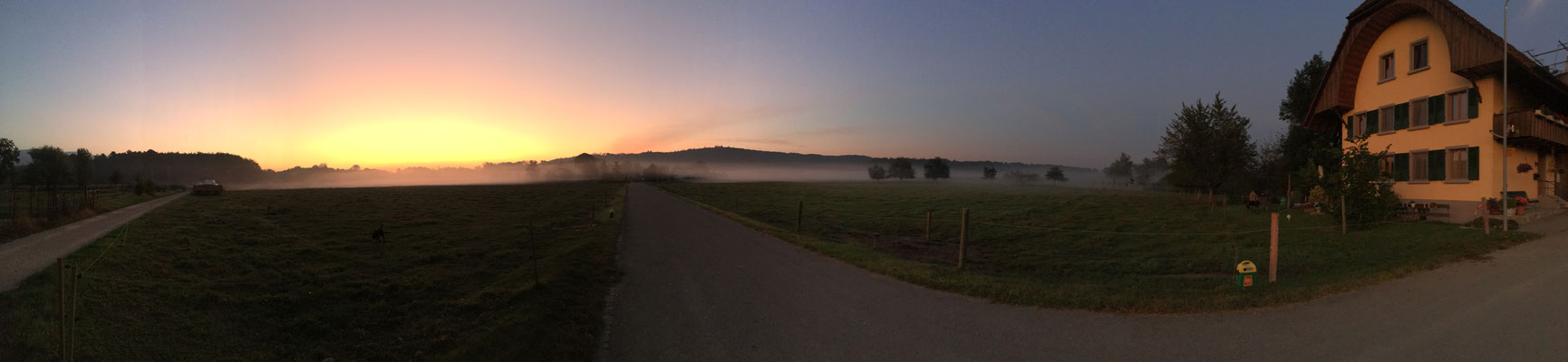Herbstmorgenpanorama