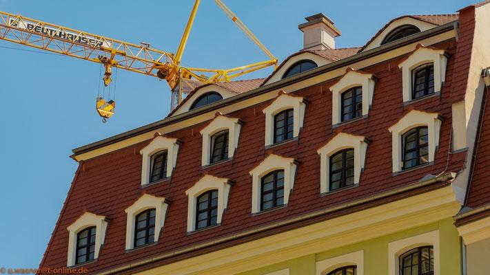 Gauben nahe Neumarkt, Beispiel für den Bauboom in Dresden