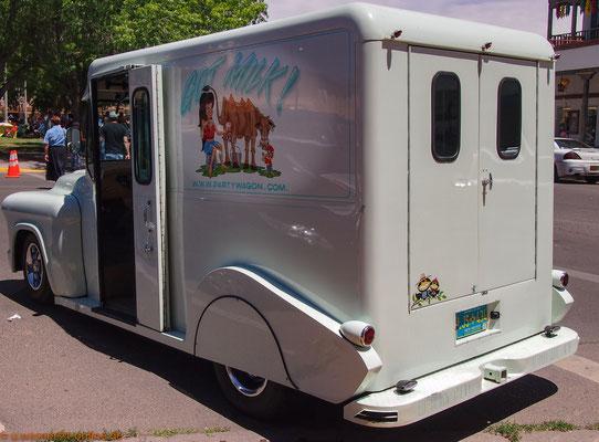 Oldtimer-Milchwagen, gesehen in Santa Fe/USA