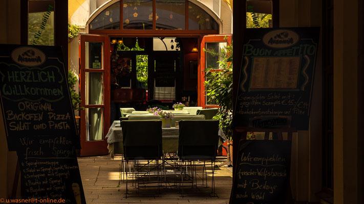 Hinterhof-Restaurant  im Barockviertel Dresden