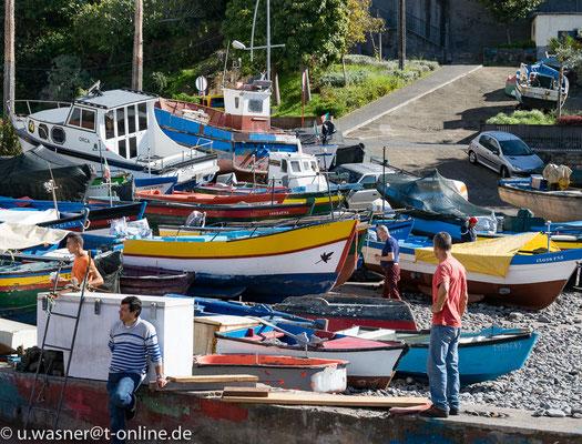 Warten auf den nächsten Fang Sao Martinho, Madeira