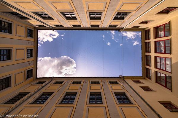 Innenhof im Barockviertel Dresden