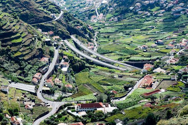 Straßen in der Camara de Lobos, Madeira