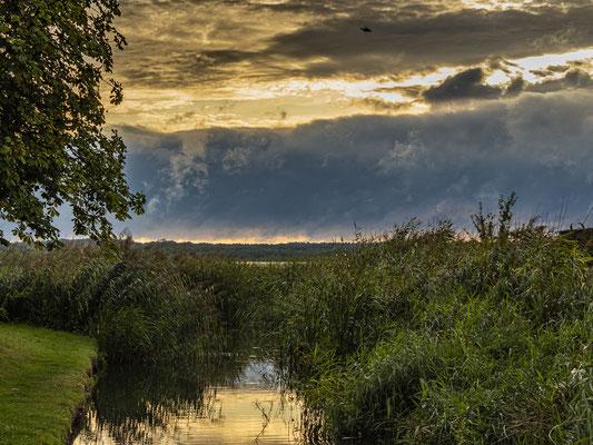 Gewitterwolken am Zierker See