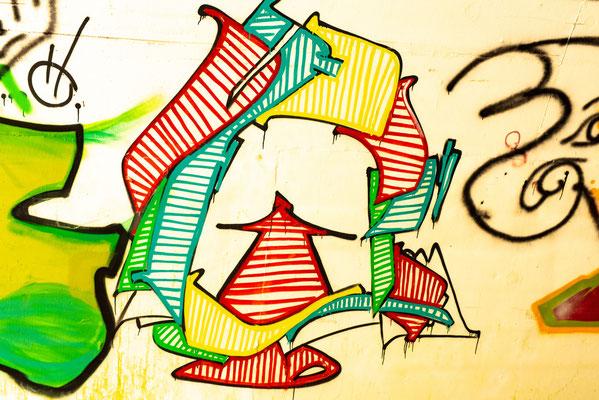 Graffiti im Bunker