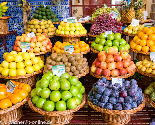 Obst Markthalle Funchal, Madeira