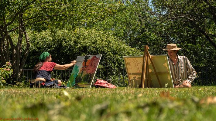 Maler unter freiem Himmel in Dresden