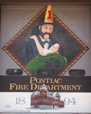 Wandgemälde in Pontiac/Ill./USA