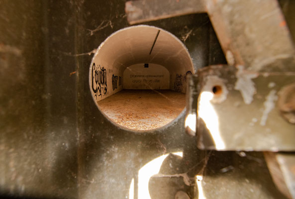 Blick in einen Bunker