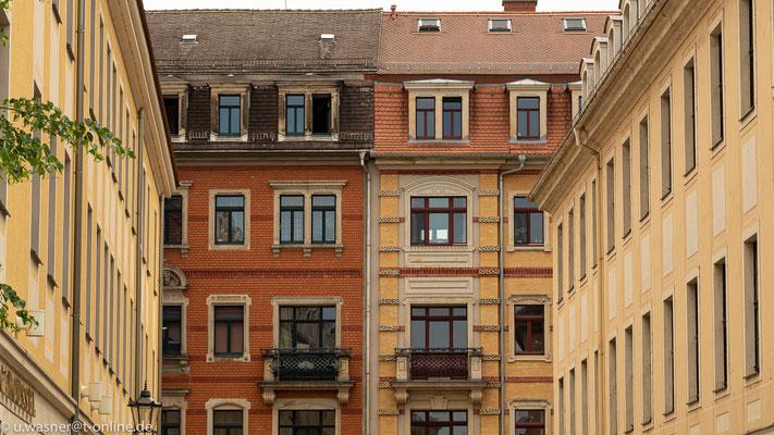 Fassade im Barockviertel Dresden