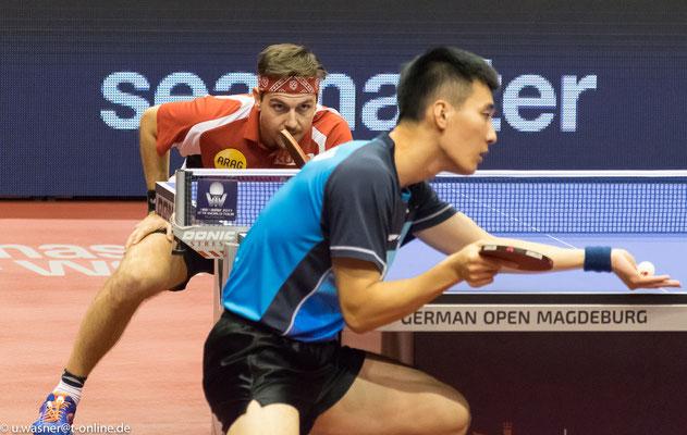 T. Boll - Lee Sangsu am 12.11.2017 in Magdeburg