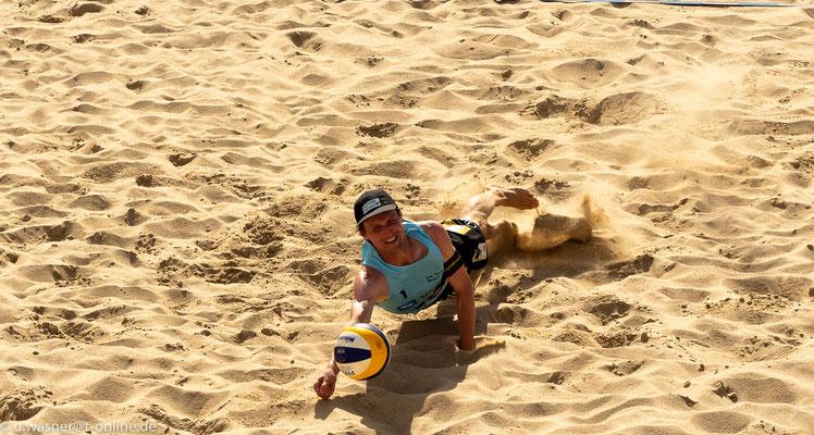Beachvolleyball Juni 2019 - hier Jonas Schröder