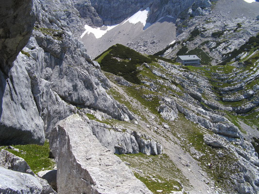 Ausqueren zur Welserhütte nach der 8. SL