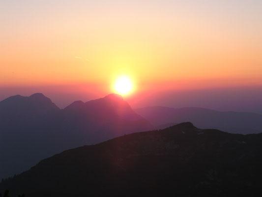 Sonnenuntergang beim Stöhrhaus