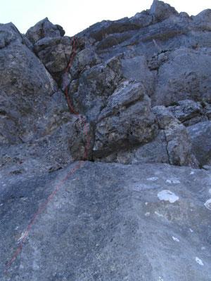7. SL Keuzkante, steile Verschneidung,