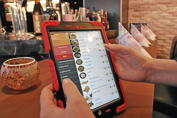 Bestellung mit dem iPad