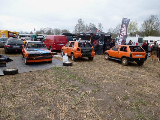 Fahrerlager:  BMW E30,VW Golf3, Citroen AX Sport ...