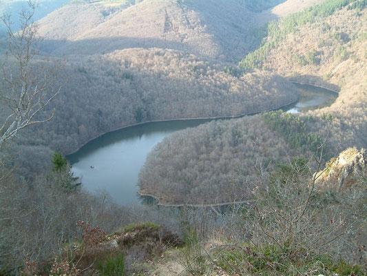 Méandre de queuille (Puy de Dômes)