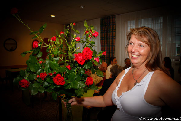 Rosenstrauß mit Gabriele Schlick