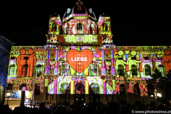Wien leuchtet - Toleranz und Liebe