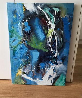 """""""Universe 2"""" 60x80 Acryl auf Leinwand"""