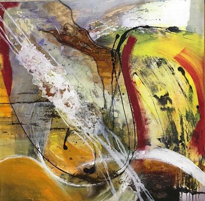 """""""New Energy 1""""80x80, 2016 mixed media auf Leinwand, Fr. 400 ART-OUTLET"""