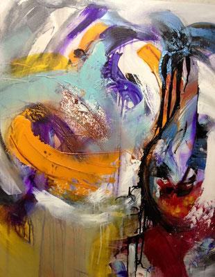 """""""Emotions 1/2"""" 2015 mixed media auf Leinwand, 2015"""