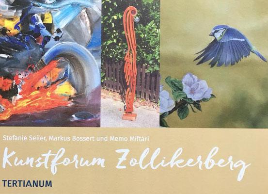 Einladung zur Vernissage und Ausstellung mit Stefanie Seiler, Markus Bossert und Memo Miftari