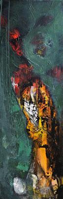 """The Lady"" 40x120 Acryl auf Leinwand"